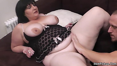 Fat bbw is picked up and fucked